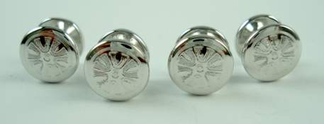 victorian hand engraved sterling stud set