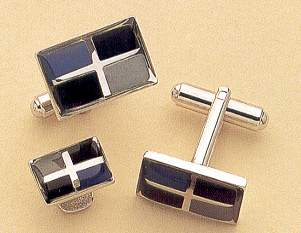 modern enamel rectangle cufflinks