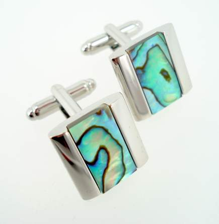 wd london abalone cufflinks