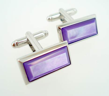 wd london purple pearl cufflinks