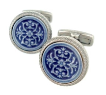 wd london spanish tile cufflinks