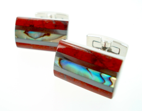 wd london red jasper cufflinks