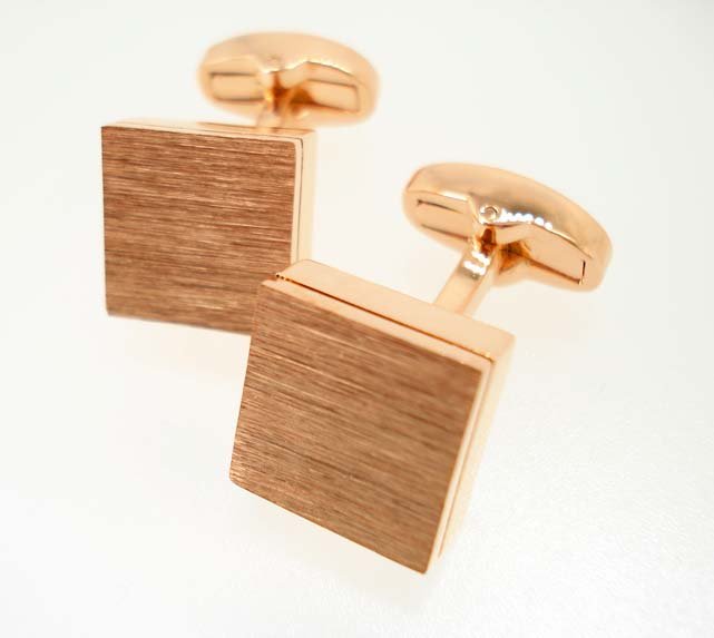Brushed Gold Square Cufflinks