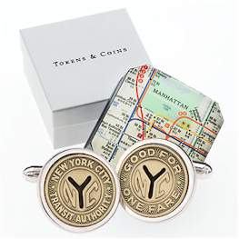 Sterling NYC Token Cufflinks