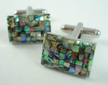 Curved Abalone Shell Chip Cufflinks. Buy Curved Abalone Shell Chip Cufflinks. Buy WD London Cufflinks.