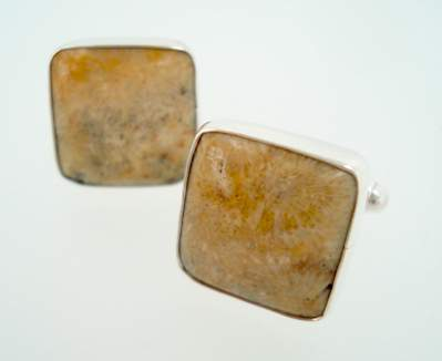 samuel wright cufflinks fossilized coral