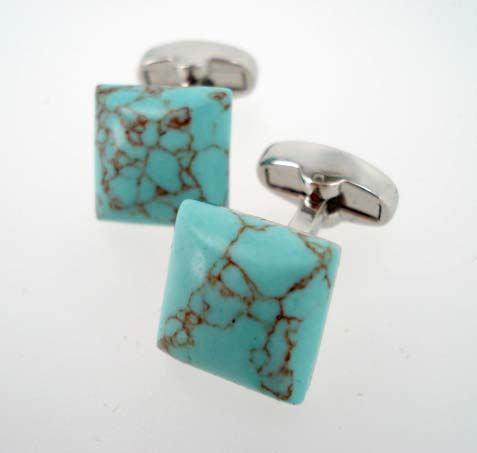 Matte Turquoise Agate Cufflinks