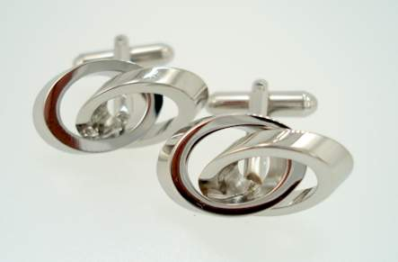 Modern Double Rings - Silver
