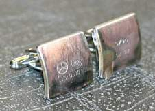 mercedes piston cufflinks