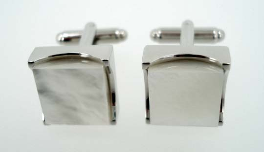 Chunky Pearl Square Cufflinks