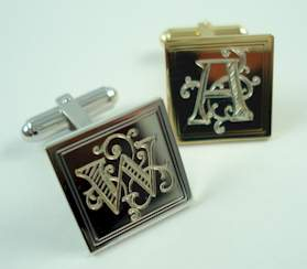 engraved cufflinks engraved cuff links cuffart has engraved cufflinks and engraved cuff links from