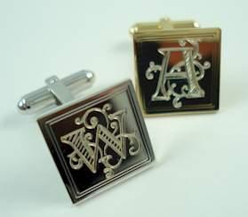 engraved cufflinks engraved cuff links cuffart has engraved cufflinks and engraved cuff links from