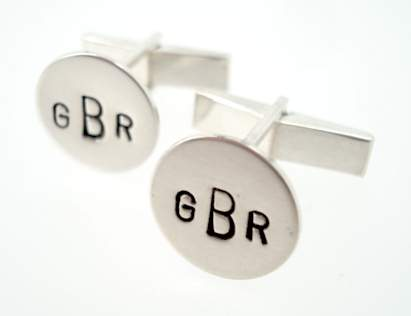 personalized vintage stamp monogram cufflinks