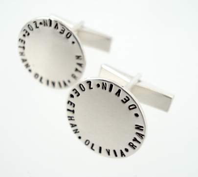 personalized vintage stamp cufflinks