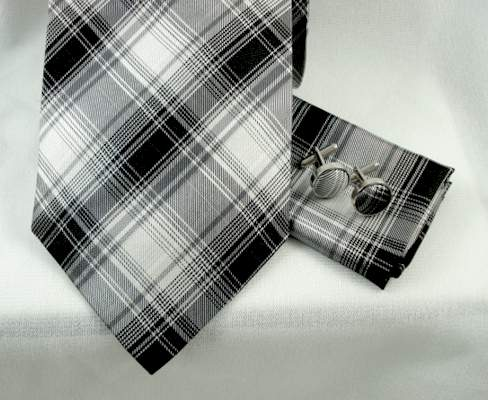 blue plaid tie. Ivory amp; Blue Plaid Tie
