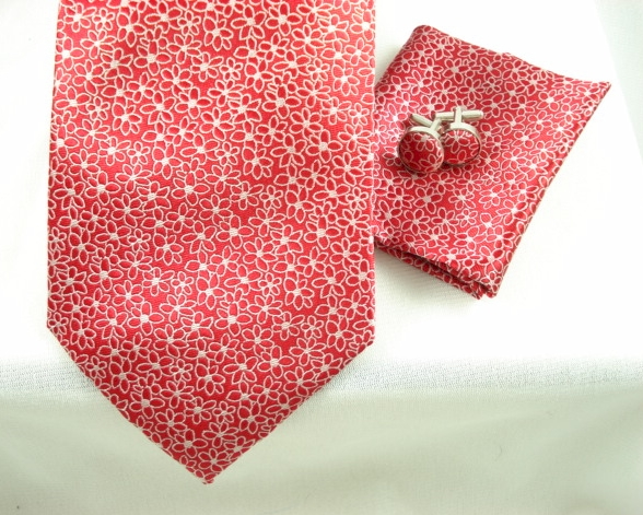 Red Woven Flower 4pc Set